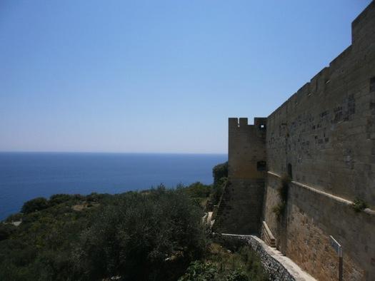 mura del castello di Castrp